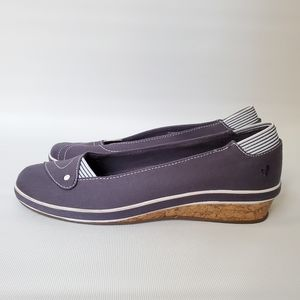 Grasshoppers Cushioned Wedge Loafers EUC!